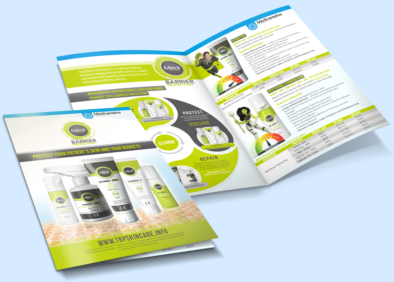 Total Barrier Protection - folhetos, design de stand, imagens para web e impressão em grande formato