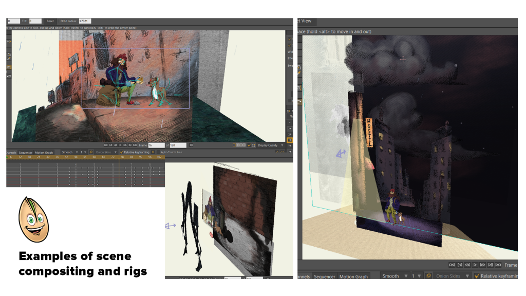 Scene Compositing and Rigging